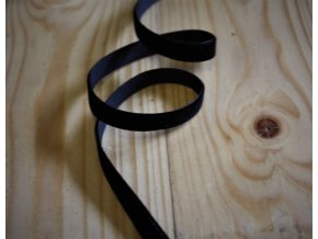 Černá sametová stuha, 10 mm