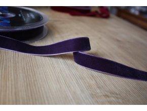 Královská fialová sametová stuha, 16mm