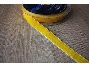 Žlutá sametová stuha, 16mm