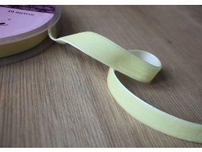 Citronová sametová stuha, 16mm