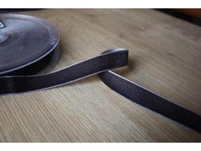 Sametová stuha (šedá do hnědé), 16mm