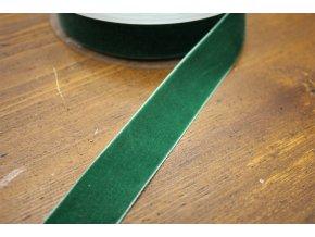 Zelená sametová stuha, 25mm