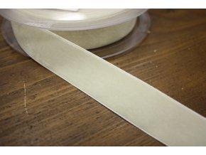 Smetanová sametová stuha, 25mm