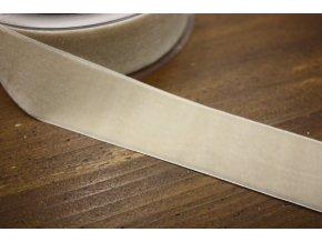 Béžová sametová stuha, 38 mm
