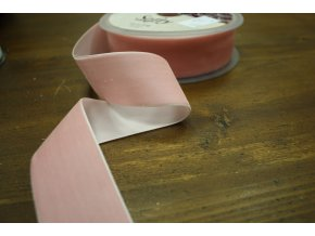 Růžová sametová stuha, 38 mm