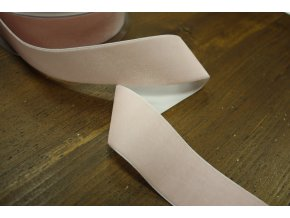 Růžová sametová stuha, 50 mm