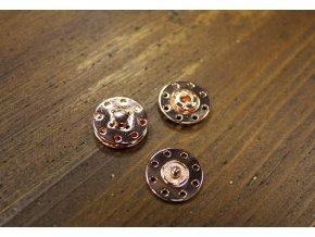 Kovové patenty (růžové zlato), 18mm