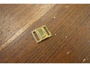 Zlaté zapínání na podprsenku, 15mm
