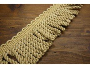Béžové bavlněné benátské třásně, 7cm