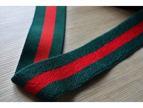 Zeleno-červená pruhovaná guma, 45mm