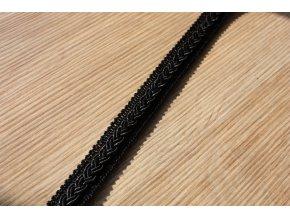 Černý dekorativní prýmek, 12mm