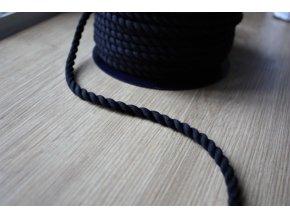 Černý provaz, 5mm