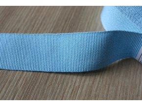 Světle modrá rypsová stuha, 25 mm