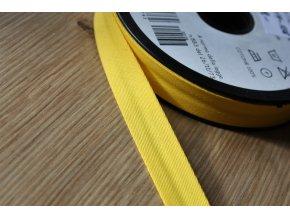 Žlutý gabardénový šikmý proužek, 14mm