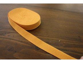 Světle oranžová rypsová stuha, 15mm