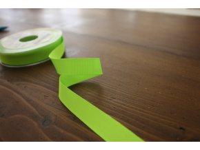 Neonově zelená rypsová stuha, 16 mm