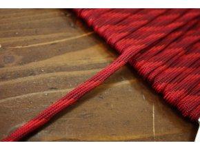 Plochý provaz červený, 5mm