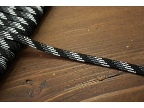 Plochý provaz strakatý (odstíny šedé), 5mm