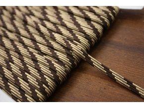 Plochý provaz strakatý (odstíny hnědé), 5mm