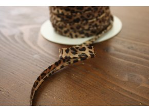 """Saténová výpustka """"leopard"""", 3 mm"""
