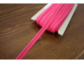 Růžová bavlněná výpustka, 3 mm