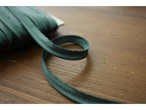 Zelená saténová výpustka, 3 mm