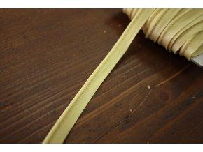 Zlatavý saténová výpustka, 3 mm