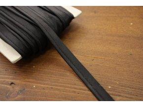 Černá saténová výpustka, 3 mm