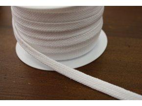 Bavlněný plochý provaz, 10 mm