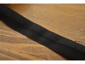 Černá transparentní jemná guma - lemovka, 20 mm