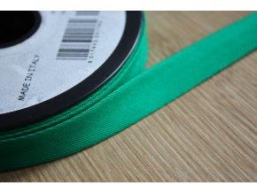 Zelený gabardénový šikmý proužek