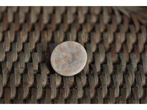 Knoflík s otiskem rostliny, 18mm