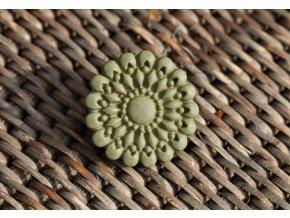 Kovový knoflík s matným povrchem, 31mm