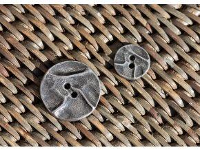 Kovový dvoudírkový knoflík, 15mm a 25mm