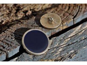 Modro-zlatý knoflík, 18mm a 25mm