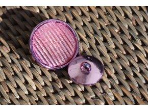 Fialovo-růžový třpytivý knoflík, 20mm a 30mm