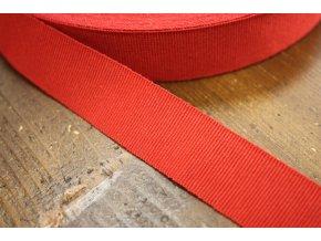 Červená rypsová stuha, 25 mm