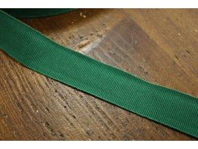 Zelená rypsová stuha, 25 mm