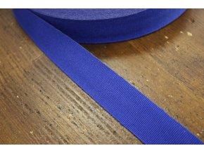 Modrá rypsová stuha, 25 mm