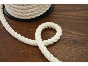 Smetanový bavlněný provaz, 10mm