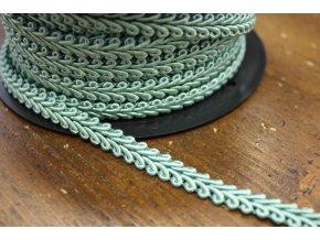 Klasický acetátový prýmek v světle tyrkysové barvě, 9mm