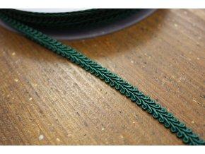 Klasický prýmek v lahvově zelené barvě, 7,5mm