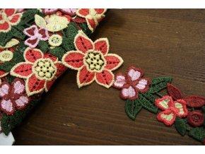 Květinová krajka macrame  a la Prada