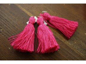 Růžové střapce, 6 cm