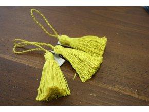 Žluto-zelené střapce, 6 cm