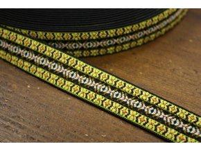 Vzorovaná guma v etno stylu, 2,5cm