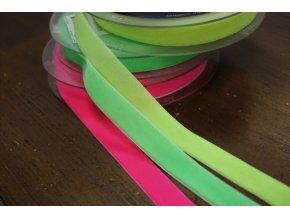 Sametová stuha v neonových barvách, 16mm