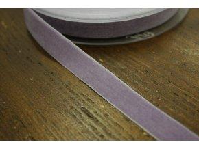 Levandulová sametová stuha, 16mm
