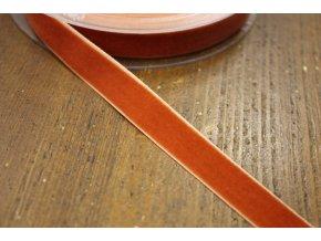 Rezavá sametová stuha, 16mm