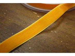 Oranžová sametová stuha, 16mm